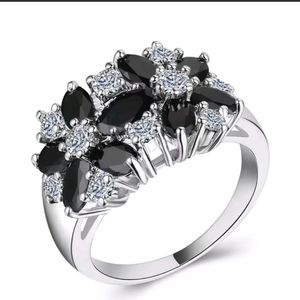 Sapphire Floral Ring